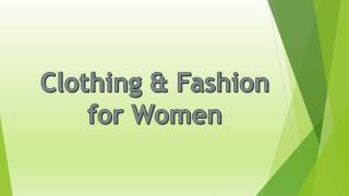 Buy Women Clothing Online