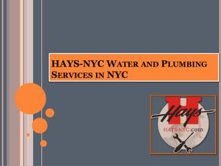 Hays nyc water and plumbing services in nyc