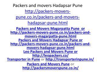Packers and Moevrs Hadapsar Pune