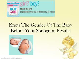 Know The Gender Of The Baby Before Your Sonogram Results