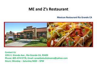 Mexican Food Rio Grande CA