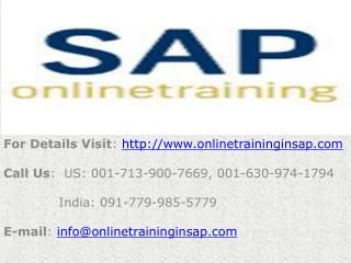 SAP FICO Online Training and Placement