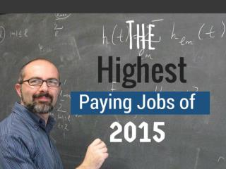 The Highest Paying Jobs of 2015