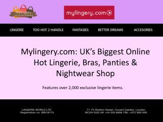 Mylingery.com Hot lingerie shop uk