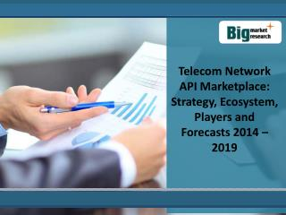 Analysis Of The Telecom Network API Market 2019