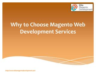 Why to Choose Magento Web Development Serivces