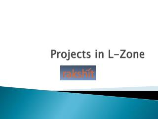 Projects in L Zone