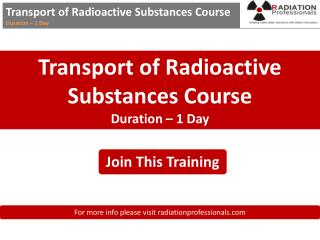 Transport of radioactive substances course