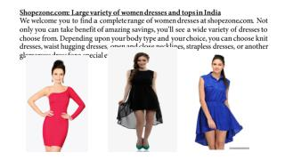 buy women dresses online India