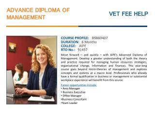 Advanced Diploma of Management Course Online Syndey Australi