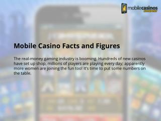 Mobile Casino Facts and Figures