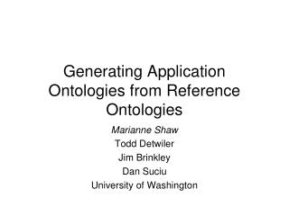 Generating Application Ontologies from Reference Ontologies