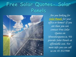 Find best Solar Panels within your budget