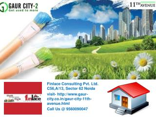 Gaur City 2 11th Avenue Call@ 9560090047