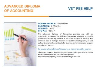 Advanced Diploma of Accounting Course Online Syndey Australi