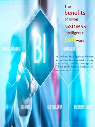 The benefits of using Business Intelligence Software