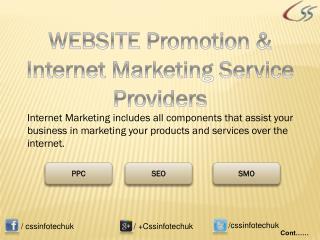 WEBSITE Promotion & Best Internet Marketing Service Provider