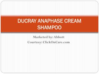 Ducray Anaphase Cream Shampoo Online in India