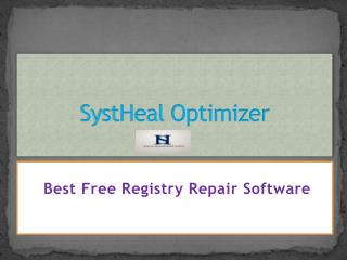 SystHeal Optimizer - Best Free Registry Repair Software