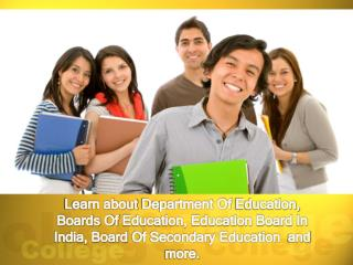Learn About Department of Education, Boards of Education, Ed