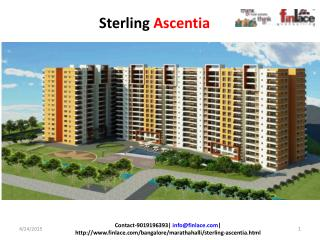 Sterling Ascentia Marathahalli, Bangalore, offering 2 & 3 BH