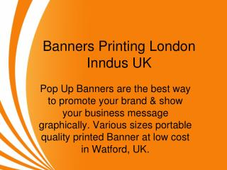 Banners Printing London