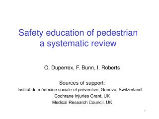 Safety education of pedestrian a systematic review