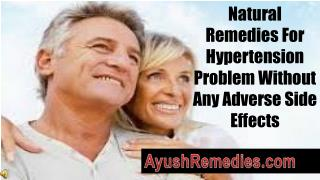 Natural Remedies For Hypertension Problem Without Any Advers