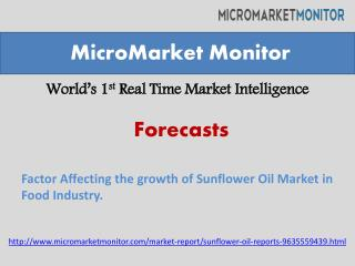 sunflower oil market