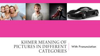 Khmer Meaning of Pictures in Different Categories
