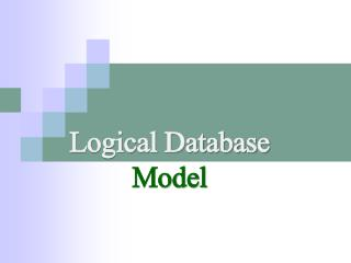 Myassignmenthelp.net-Logical Database Model
