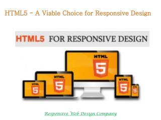 HTML5 for Responsive Design
