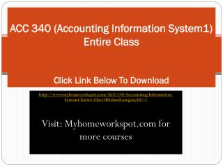 ACC 340 (Accounting Information System1)  Entire Class
