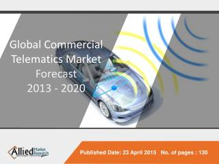 Global Commercial Telematics Market - Forecast 2013 - 2020