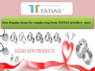 Best Popular items for couples ring from TATIAS jewellery