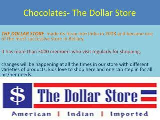 Online Chocolates Delivery in India - Thedollarstore.in