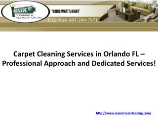 Carpet Cleaning Services in Orlando FL