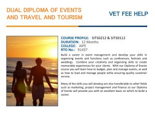 Dual Diploma of Events and Travel and Tourism Course Online
