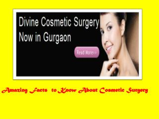 Cosmetic Surgery Delhi