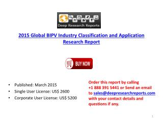 Global BIPV Market 2015 Key Manufacturers and Product Overvi