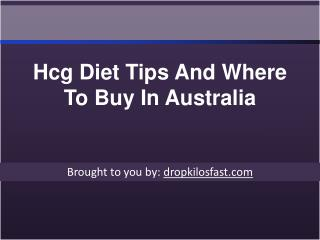 Hcg Diet Tips And Where To Buy In Australia