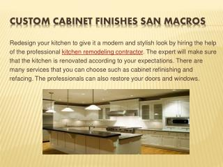 kitchen cabinet refinishing | kitchen design san marcos