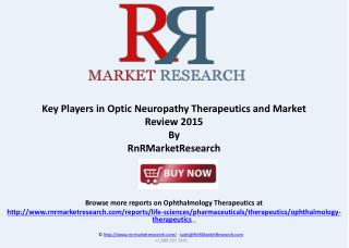 Optic Neuropathy Therapeutic Products under Development 2015
