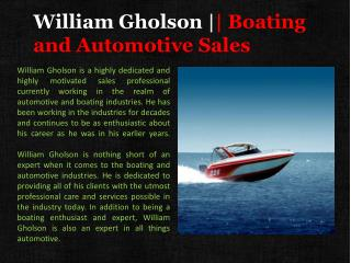 William Gholson Boating and Automotive Sales