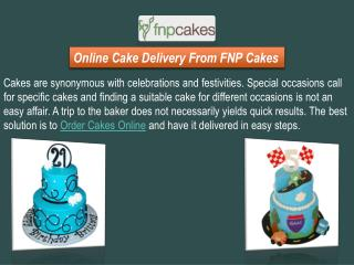Buy and Send Cakes Online With Same Day Delivery Services