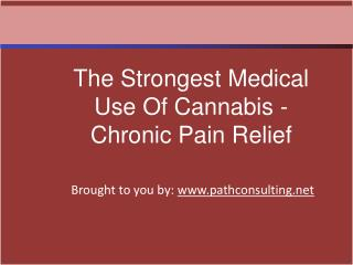 The Strongest Medical Use Of Cannabis - Chronic Pain Relief