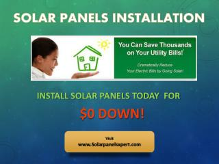 Installation of Solar Panels For Your Home