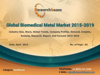 Global Biomedical Metal Market 2015-2019