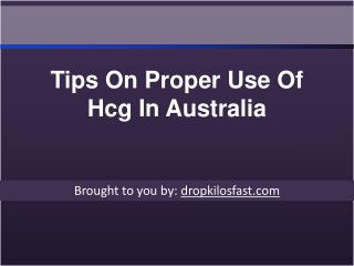 Tips On Proper Use Of Hcg In Australia