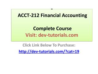 ACCT-212 Financial Accounting - Complete Course